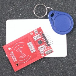 13.56 RFID mifare 讀卡機 NFC RC522 IC卡(送卡+鑰匙扣)