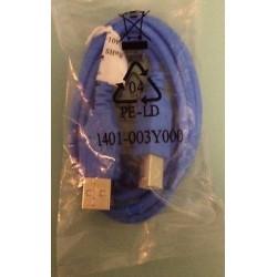 USB 藍色方頭傳輸線 150cm
