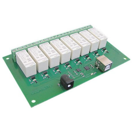 USB 介面的繼電器 16Amp, 8 channel Relay Module
