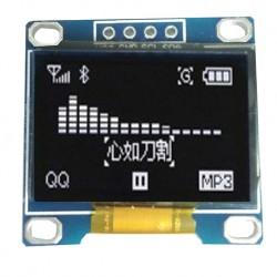0.96吋黃藍雙色OLED顯示屏 12864液晶屏模塊 IIC介面