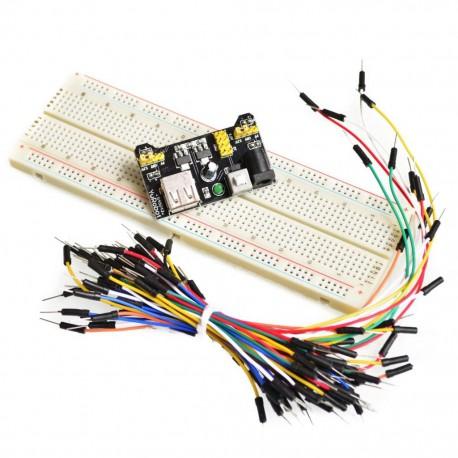 MB-102大麵包板專用電源模組套件(Arduino相容)
