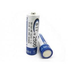 BTY NI-MH 3號鎳氫充電電池 (AA) 1.2v 2500mA BTY-003 (庫存數:38)
