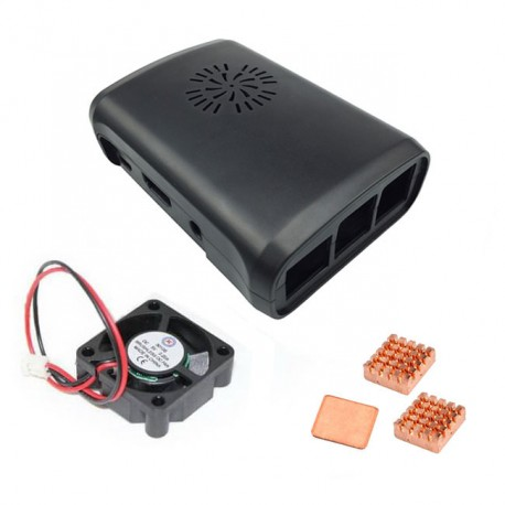 Raspberry Pi 3 B 散熱組合包 / 保護殼 / 纯铜散热片 / 風扇