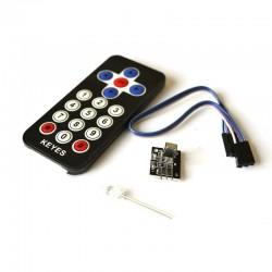 紅外無線遙控套件 黑色(相容Arduino)