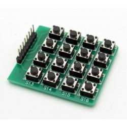 4X4矩陣鍵盤 / 4*4 16按鍵 / 外擴鍵盤模組