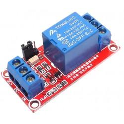 1路5V繼電器模組(支援高低電平觸發)