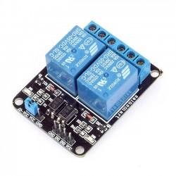 2路5V繼電器模組 (帶光耦支援高低電平觸發)
