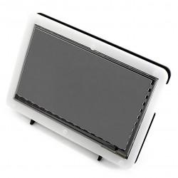 樹莓派Raspberry Pi3 七吋觸控式螢幕+壓克力保護外殼支架組