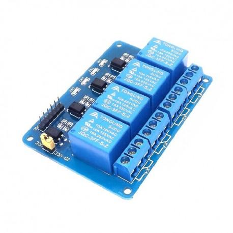 4路5V帶光耦繼電器模組 輸出控制板