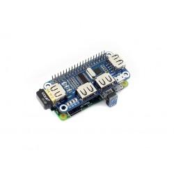 USB轉串口 擴展板 (適用樹莓派Zero W 3代B)