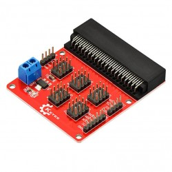 Micro:bit感測器擴展板  (紅板)
