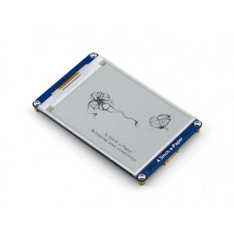 4.3 吋 墨水屏電子紙ePaper (支持 NandFlash SD卡,黑白二色)