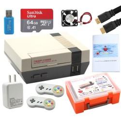 樹莓pi 3B+懷舊復古遊戲機套件(NES手柄+SD卡64G)