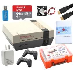 樹莓pi 3B+懷舊復古遊戲機套件(遊戲手把+SD卡64G) (不含Raspberry Pi 3B+)
