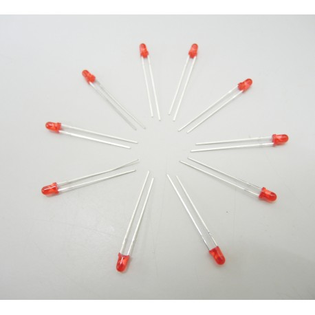 LED 3Φ紅色 (1包10個)(庫存:4包)