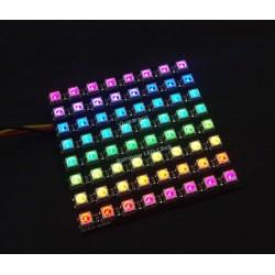 電子積木 WS2812串行5050全彩LED模塊8*9點陣(相容Arduino)