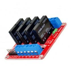 四路固態繼電器(紅色 )(相容Arduino)(庫存:3)