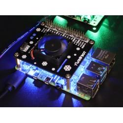 樹莓派Raspberry Pi4B 散熱風扇擴展板(藍色全套)