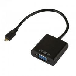 樹莓派Raspberry Pi 4B Micro HDMI轉VGA轉接頭( 帶音頻)