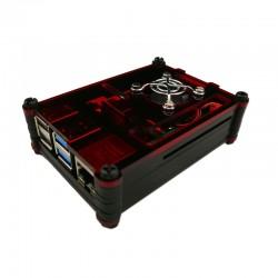 樹莓派Pi 4B壓克力9層外殼套件組(含風扇) (紅黑)