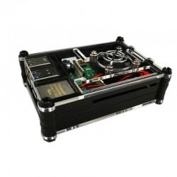 樹莓派Pi 4B壓克力9層外殼套件組(含風扇) (透黑)