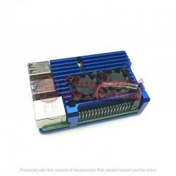 樹莓派Raspberry Pi 4散熱金屬外殼(藍)