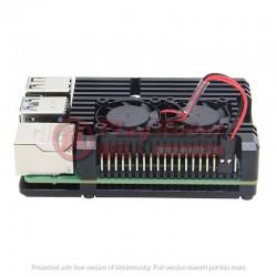 樹莓派Raspberry Pi 4散熱金屬外殼(黑)