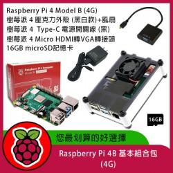樹莓派Raspberry Pi 4B 基本組合包  (4G)