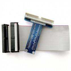 GPIO擴展板+40Pin GPIO灰排線 樹莓派3代/2代B/1代B+ 線長25cm