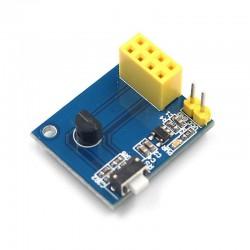 ESP8266 ESP-01 ESP-01S DS18B20 溫度WiFi無線節點模組